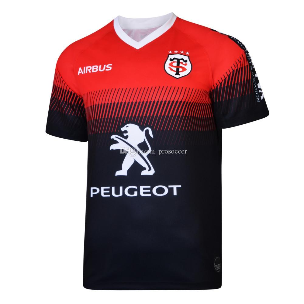 스타드 Toulousain 2019-2020 성인 슈퍼 럭비 저지 르 스타드 셔츠 툴루즈 마이 Camiseta MAGLIA는 S-5XL Trikot Camisas 키트 탑