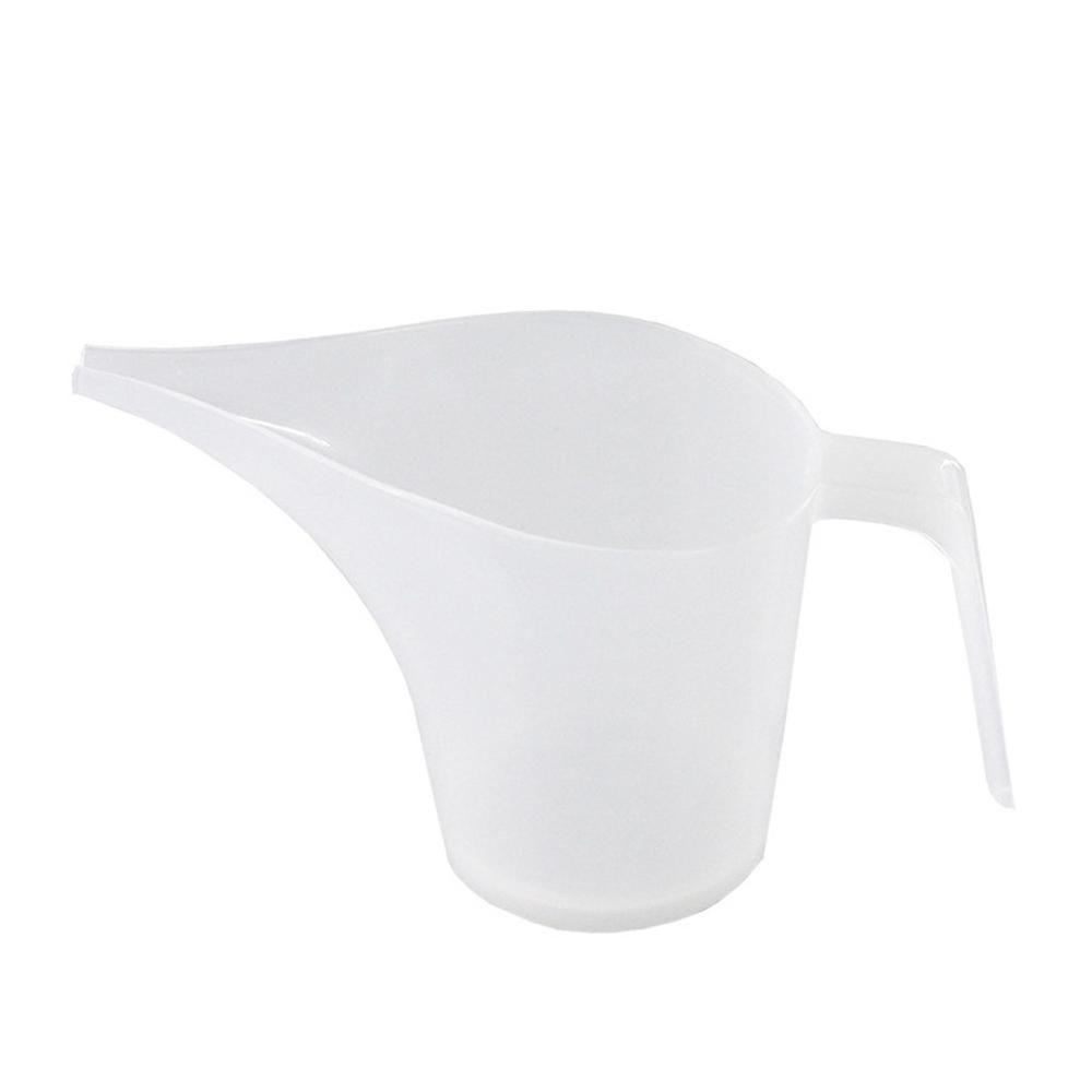Kunststoff-Tipp Mouth Kunststoff Messbecher Cup Abgestufte Oberfläche Kochen Küche Backen Bäckerei Tee-großer Kapazität Messbecher