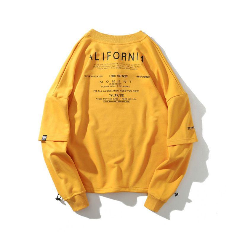 Loose New Students Men Cotton Off Popular Arrival Street Coat Full Solid O-neck None 2021 Collar Sweatshirt Hoodies Hop Hip Cuvns