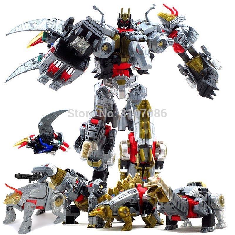 Трансформация G1 BPF Dinoking Volcanicus Grimlock Шлак Шлам Snarl Swoop слэш Dinobots 5в1 фигурку робота игрушки T200106