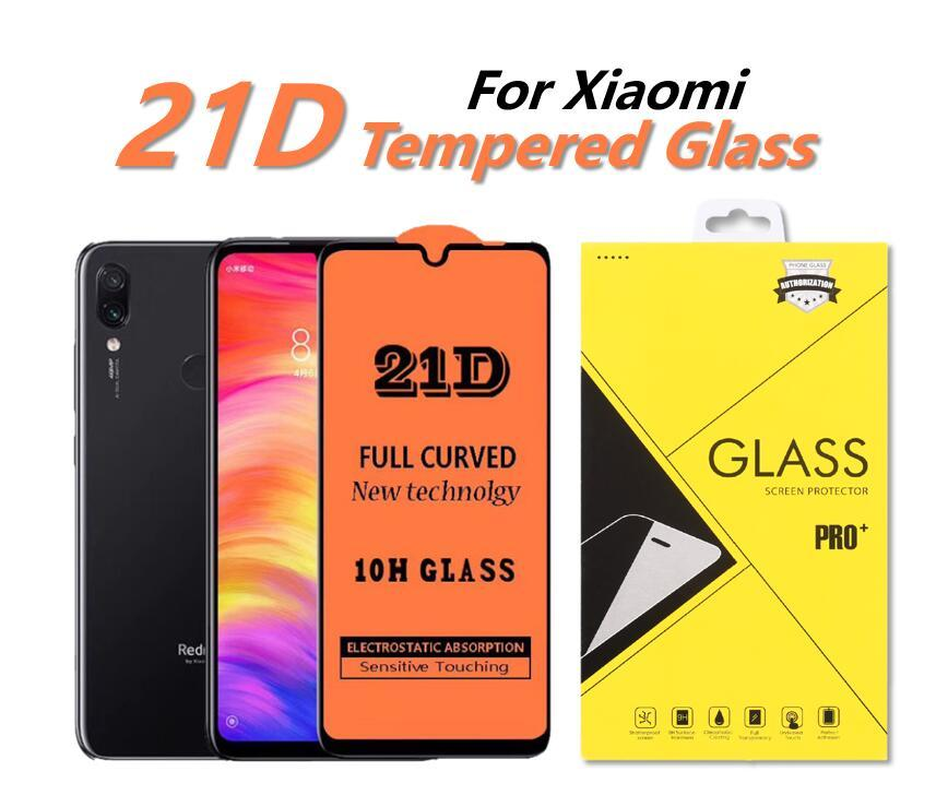 21D Full Cover Tempered Glass Phone Screen Protector For Xiaomi Xiaomi Mi 9 SE 8 Lite CC9 SE Redmi K30 K20 Pro Note8 T Pro 8A 7 With Package