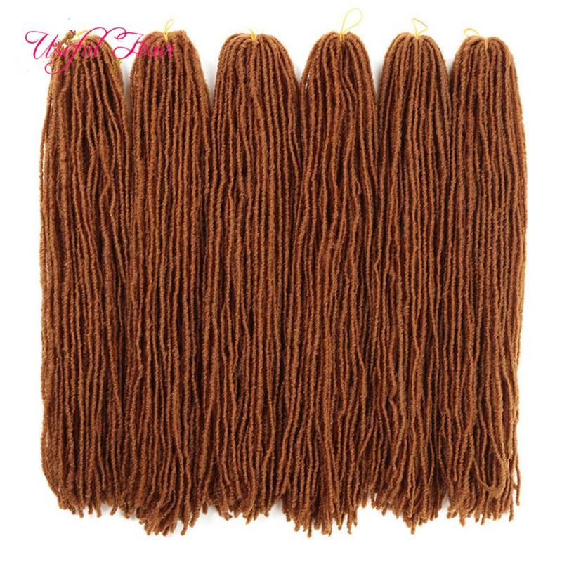 Dreadlocks Ombre estensioni dei capelli biondi capelli Crochet puro colore sintetico tessuto dei capelli intrecciare 18Inch Suor Micro Serrature 27strands rette