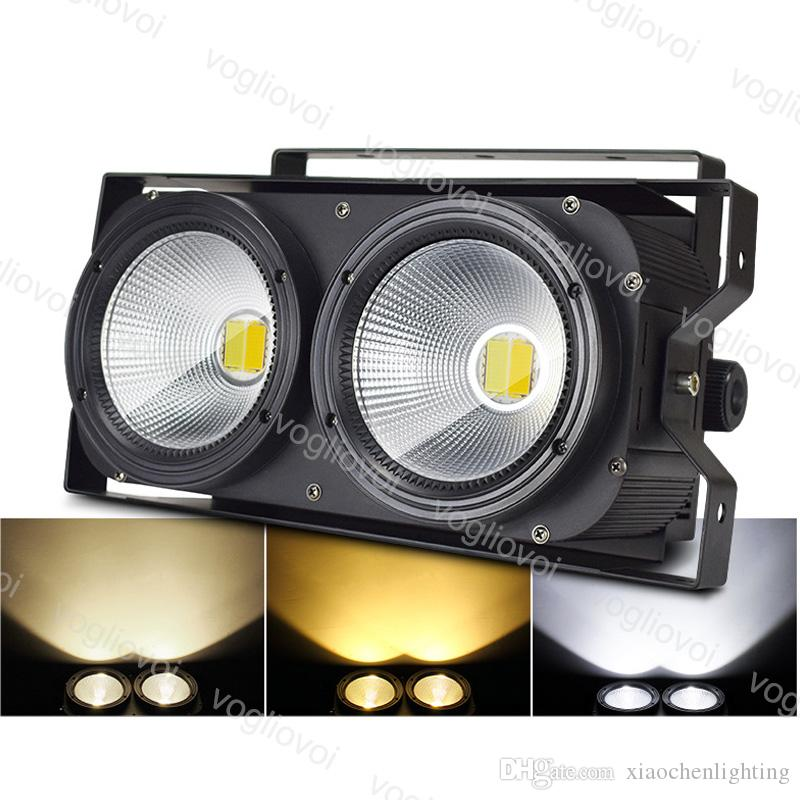 LED Effects Dimmable 250W 2x100W COB DMX512 4CH Cool White Warm White 2in1 IP20 Dj Equipment For Stage Wedding Bar KTV Party DHL