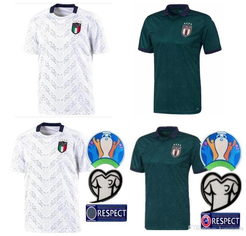 S-4XL 2019 2020 ITALY European Cup soccer Jersey 19 20 green away JORGINHO EL SHAARAWY BONUCCI INSIGNE BERNARDESCHI FOOTBALL SHIRTS