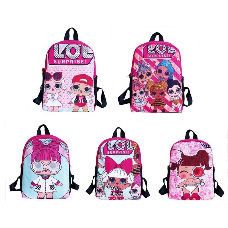 DHL desenhador livre menina bonecas Backpack armazenamento meninas cartoon sacos Mochilas natal presentes sacos de brinquedos dos miúdos zx005