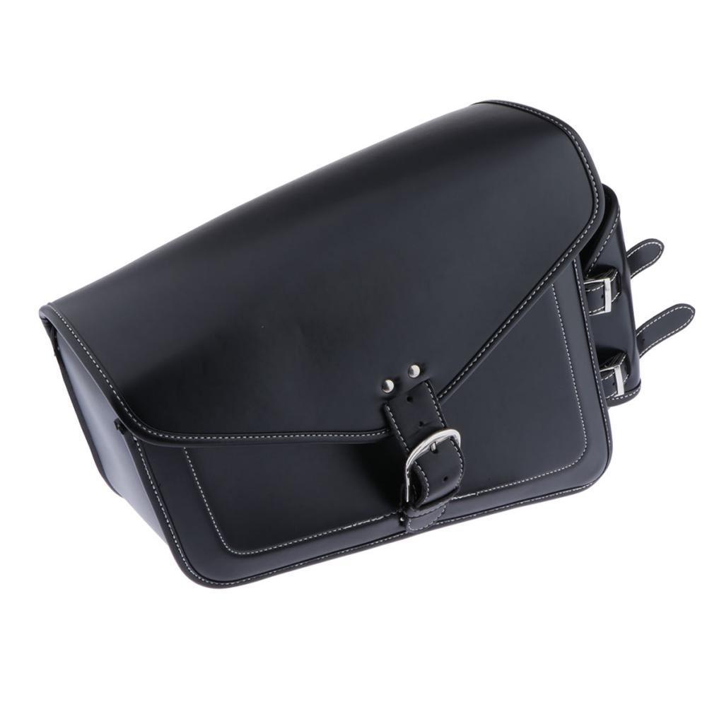 레트로 오토바이 측면 안장 안장 가방 물품 보관소 도구