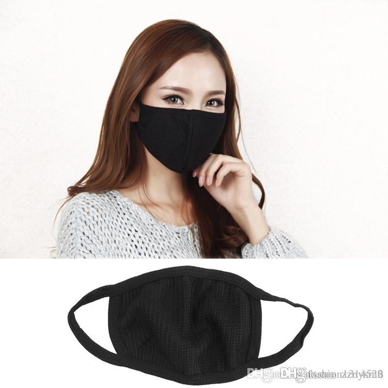 Toz geçirmez siyah ağız yüz maskesi Unisex anti-toz ve burun koruma yüz erkekler kadınlar için ağız maskesi kullanımlık Anti-bakteri maskesi