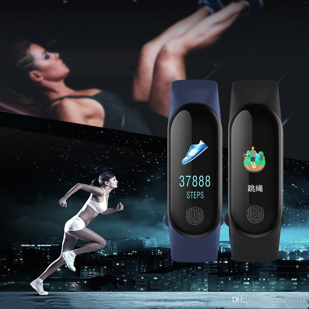 M3 Plus Smart Wristband Monitor de ritmo cardíaco Smart Bracelet Watch FitnessTracker Smart Band con correas de repuesto