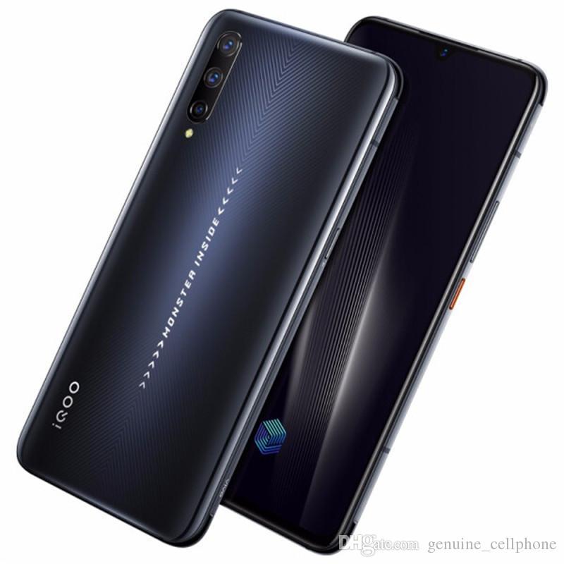 """4G d'origine Vivo iQOO Pro LTE Cell Phone 8 Go de RAM 128Go ROM Snapdragon 855 plus Octa Android de base 6,41"""" 48MP NFC ID d'empreinte Téléphone mobile"""