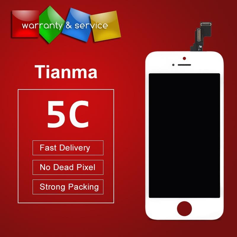 10PCS LCD For iPhone 5C LCD Tianma Quality Touch Screen Digitizer Assembly Replacement Display For iPhone 5C LCD 100% Tested