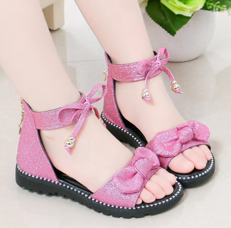 New Girls Shoes Flat Heel Sandals Kids