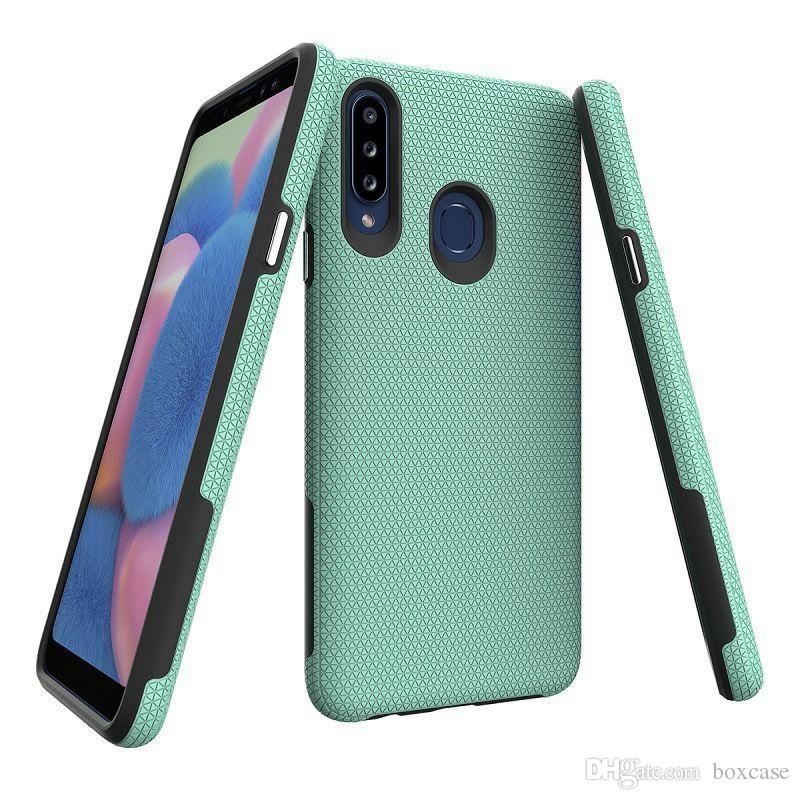 A80, A90 A70 A60, A50 A30s A50s A40 A31 A21s Darbeye Kapak Samsung Galaxy M30S A20s A10s için Çift Katmanlı Telefon Koruyucu Kılıf