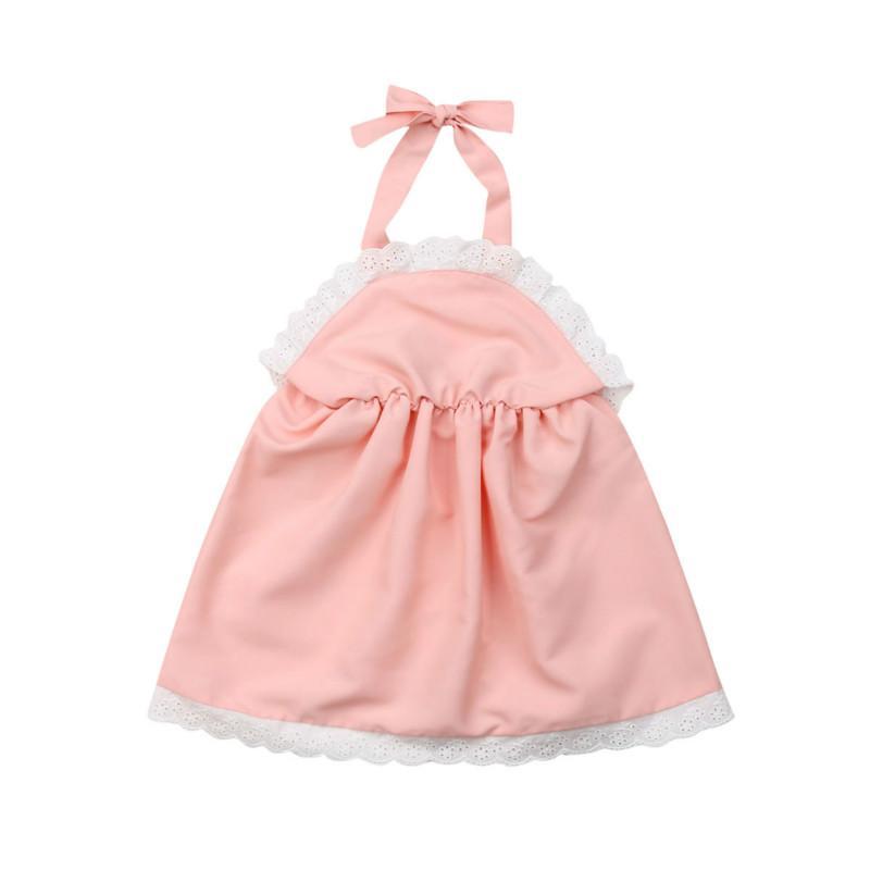 Bebés Meninas vestido de festa floral recém-nascido miúdos atam vestido sem mangas Sólidos Vestem roupas de verão Moda roupas casuais Sets