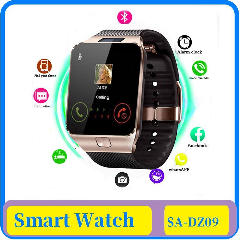 Смарт Часы Dz09 Смарт часы Поддержка Tf Sim камеры Мужчины Женщины Спорт Bluetooth Наручные часы для Samsung Huawei Xiaomi телефон Android