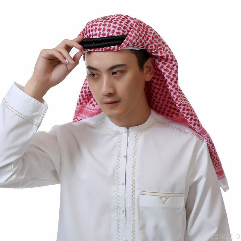 Мода Мусульманских Shemagh + гал Мужчины Ислам арабского хиджаба ИСЛАМСКИЙ шарфа мусульманских арабская Keffiyeh арабские головные уборы устанавливает A51608