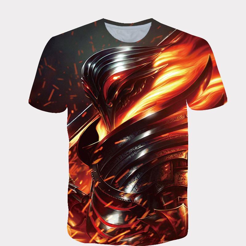 Yaz 2020 3D baskılı desen erkek ve kız çocuk giyim hip hop tişörtler gündelik moda caddesi T-shirt satış başında