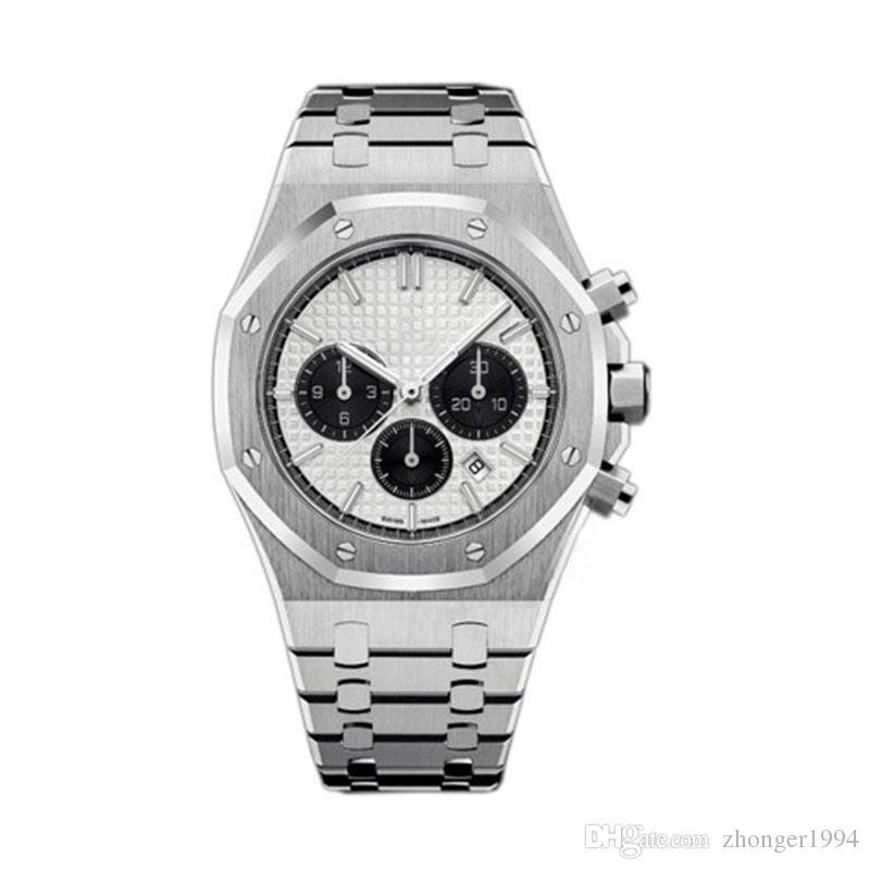 Hochwertige Luxus Royal Oak 26331ST Serie Herren 41MM Durchmesser Saphirglas VK Quarz-Chronographenwerk Top-Designer-Armbanduhr