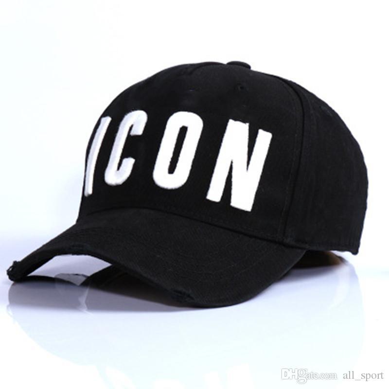 Icono de la marca Letra inglesa Bola Sombrero Snapbacks Algodón de secado rápido Gorra bordada de moda para hombres Estilo hip hop Sombra de béisbol estilo sombreros de moda