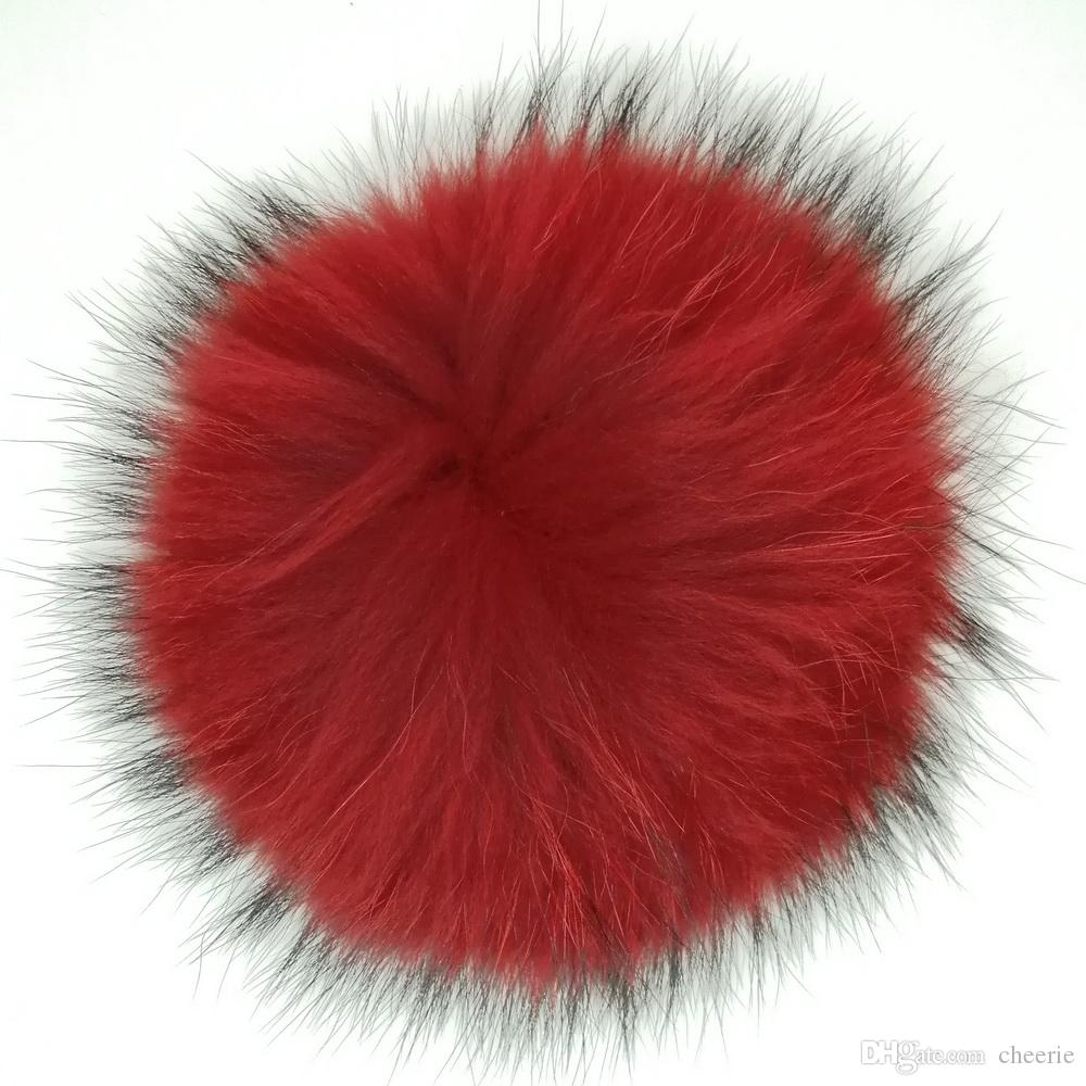 Wholesale China Import keychain raccoon fur pom pom ball keychain custom colour raccoon pompoms keyring accessories