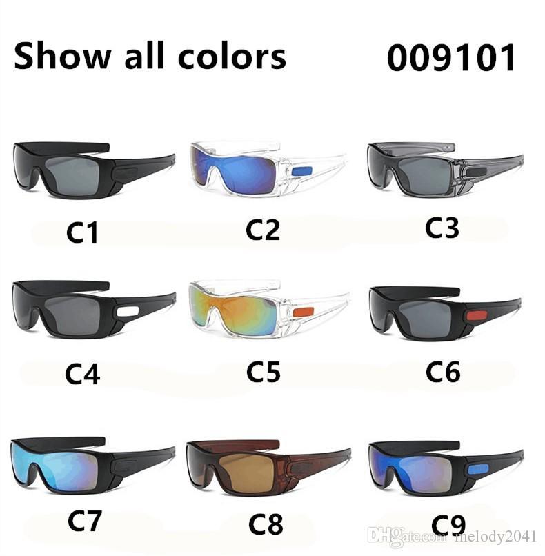 9101 9 ألوان الرياضة النظارات الشمسية الرجال والنساء ركوب الدراجات النظارات الشمسية لا توجد كلمات الطباعة الحرة الشحن