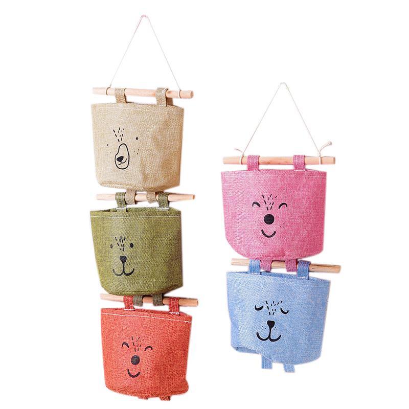 Moda Hanging toalha de papel sacos de armazenamento fixado na parede Roupeiro Pendure Bags Recados cosméticos bolsa Brinquedos Organizador