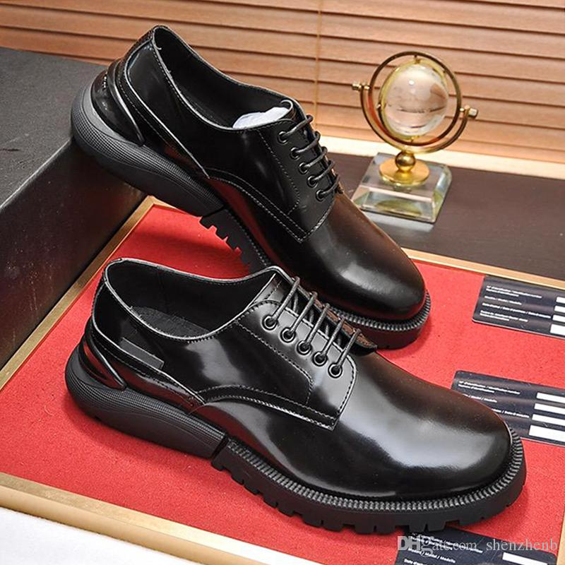 New Arrival Derby Shoes Men's Shoes Drop Ship Autumn and Winter Dress For Male Wedding Formal Flats Round Toe Design Office Work Shoes