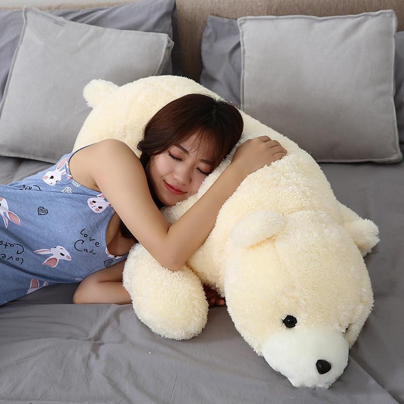 Lovely Soft Animal Polar Bear Plush Toy Giant Stuffed Cartoon Bears Doll Pillow Christmas Gift 39inch 100cm