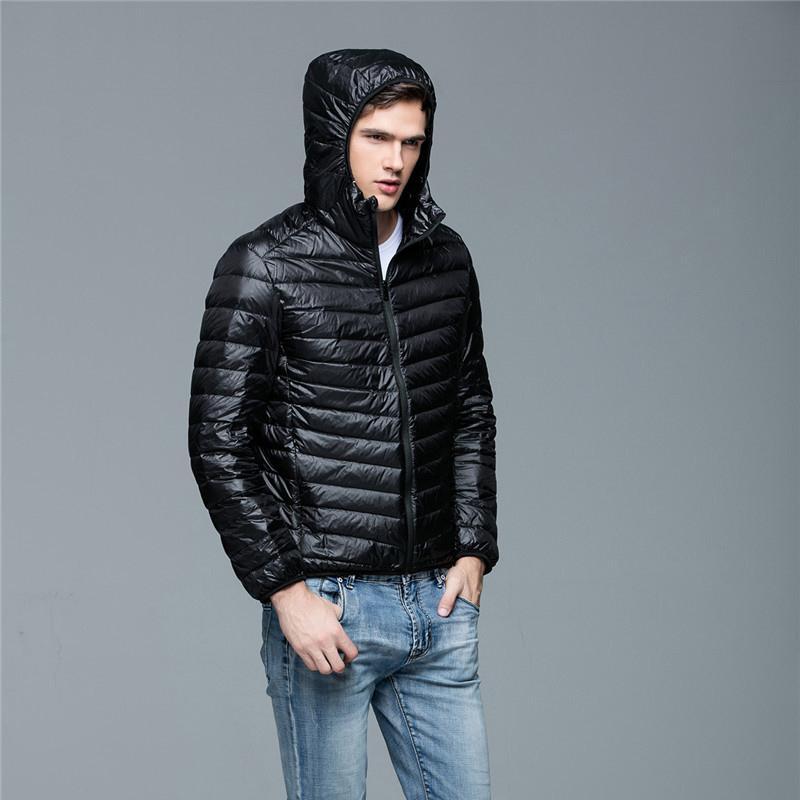 Outwear Coat Parkas Outdoors'u Isınma Man Kış Sonbahar Ceket Beyaz ceket Aşağı Erkekler Kapşonlu Ultra Hafif Aşağı ceketler Ördek