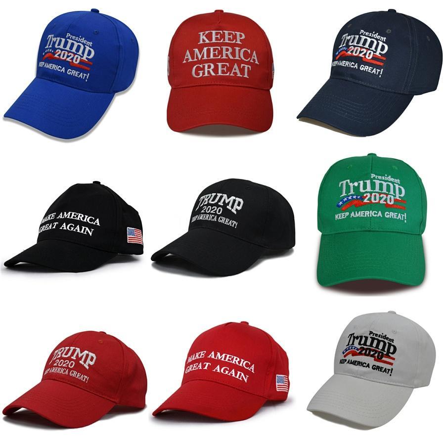 Boné de beisebol camuflagem Donald Trump Chapéu da bandeira dos EUA Mantenha América Grande 2020 chapéu bordado 3D ajustável Snapback Zza1720-3 # 283
