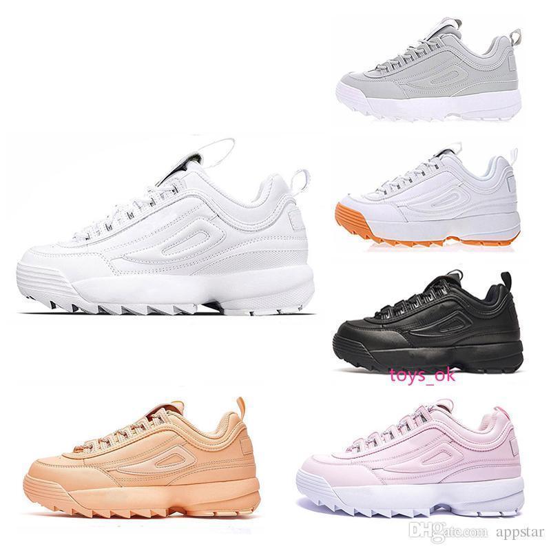boxNew mit 2019 Sneaker II für Frauen Männer Laufschuhe rosa weiß schwarz Trainer grau Designer der Frauen der Männer Schuhleder-Sport Größe 35-45