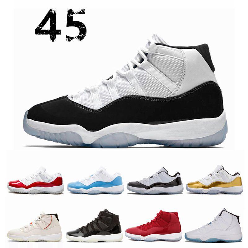 Compre Nike Air Jordan Jordans Retro 11 Concord High 45 11 Gorra Y Bata 11  S PRM Heiress Gym Red Chicago Platinum Tint Space Jams Calzado De ...