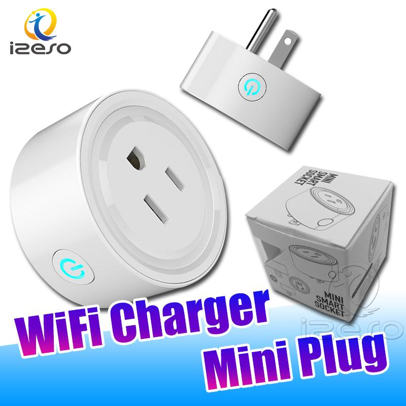WIFI Remote Control Intelligence Charger Plug US Mini Socket Chargers Support 2.4GHz Network Home Electric Adapter with Retail Package izeso