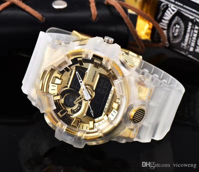 Шок Марка Горячее надувательство Мужчины на открытом воздухе G Спортивные часы LED Электронные цифровые часы Человек Хронограф Наручные часы Relogio Masculino Mini