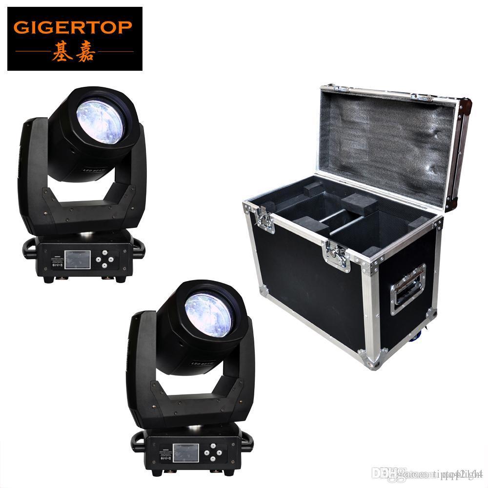 FLIGHTCASE 2en1 paquete de 150W LED luz principal móvil escáner de haz Efecto 8 de la faceta de la lente 11 Color + apertura / 17 + Gobo abierto a todo color de pantalla