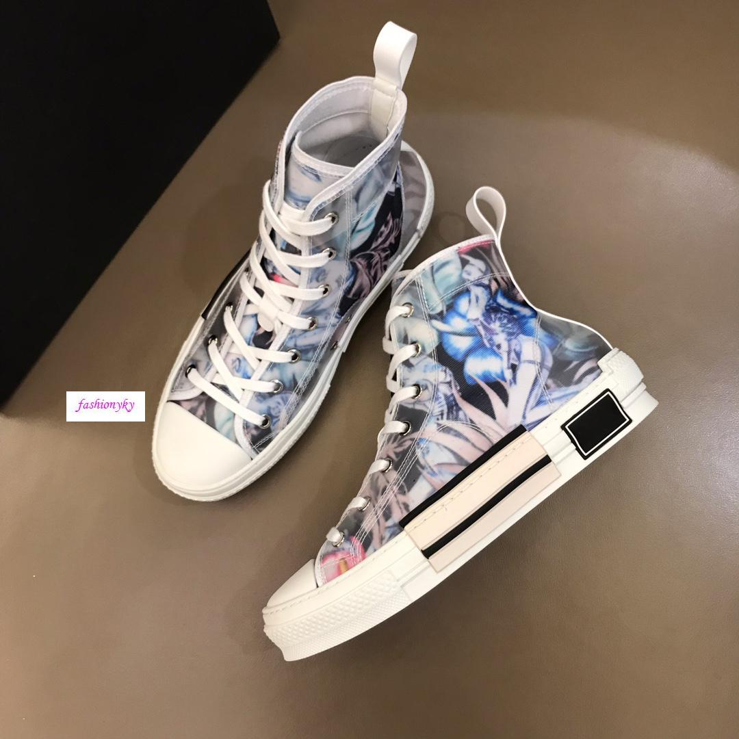 Hot saleoblique tecnologia tessuti di alta aiuto scarpe casual B23 Mens Designer Shoes Womens Fashion Casual Shoes