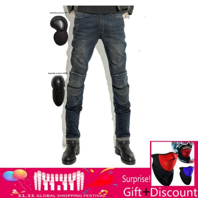 Uglybros Featherbed Jeans Jeans de moto pour hommes noirs Pantalon de protection Pantalon de protection protecteur amovible