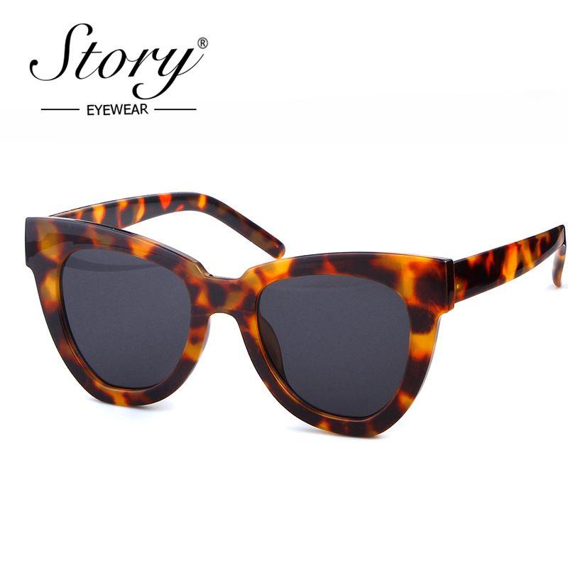 2019 Vente en gros Vintage océans chat femme femme marque de marque sexy léopard grand cadre rétro pour lunettes lunettes de soleil shades Sun Cateye Xavvs