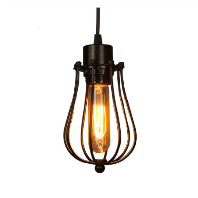 خمر قفص الثريا اديسون المصباح الكهربائي دور علوي مطعم نوم قلادة LED صناعة الإضاءة مصابيح خمر الحديد للمنزل