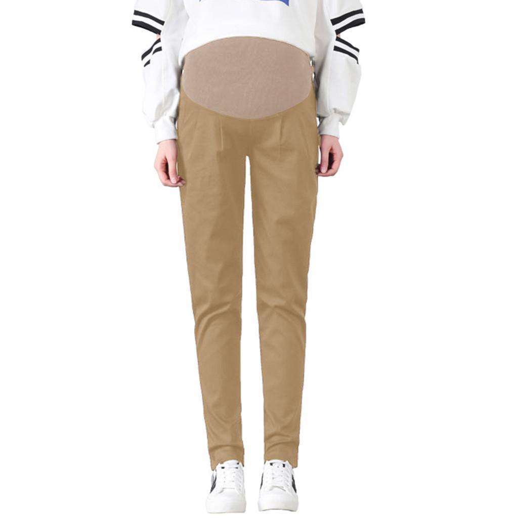 Fashsiualy maternidad mujer pantalones de cintura alta pantalones pantalones embarazada Comfort Prop vientre Legging spodnie damskie ropa premama