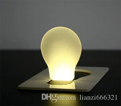 Hot new new portable poche poche carte led carte veilleuse lampe mis en bourse portefeuille LED gadget