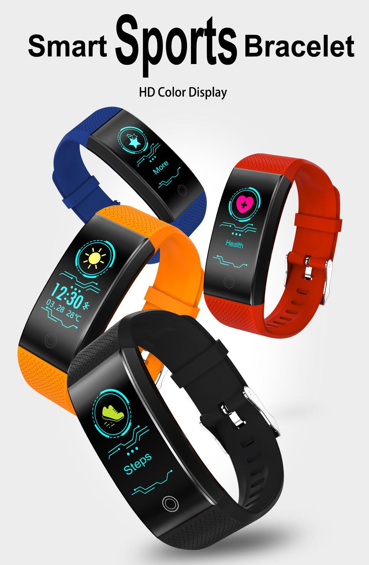 7f034ea33eda ... NUEVO en stock Reloj Inteligente Hombres Mujeres Pulsera Podómetro  Monitor de Ritmo Cardíaco Impermeable IP68 Natación ...