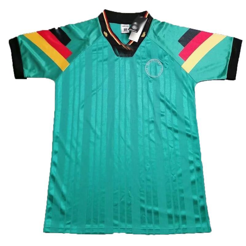 1996 1997 1998 Germany retro green soccer jersey 96 97 98 mens Bierhoff SCHOLL BOBIC Sammer Moller vintage classic away football shirt