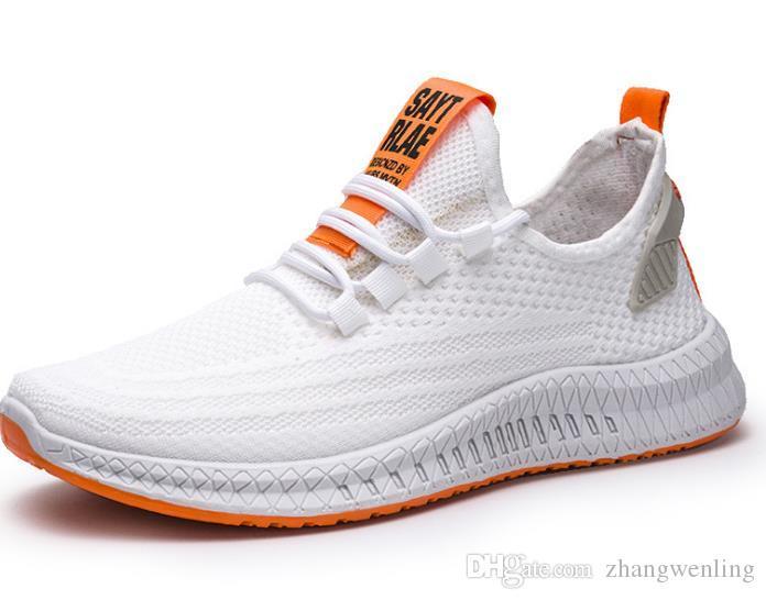 Nova malha Men Casual Shoes Lac-up Shoes Leve Confortável respirável Andando Sneakers Tenis Feminino Zapatos