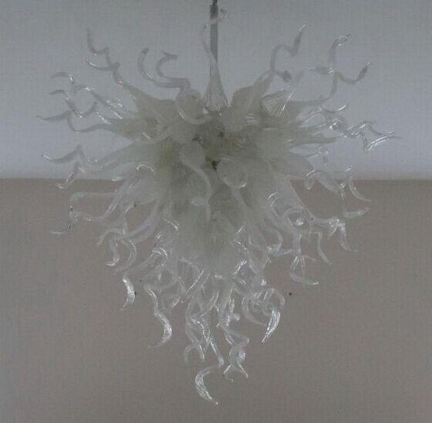 Stile francese della catena della mano di vetro decorativo lampadario luce cristallo moderno soffiato Hanging Glass Art Chandelier