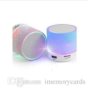 LED A9 휴대용 무선 블루투스 스피커 미니 핸즈프리 균열 블루투스 스피커 지원 음악 USB 아이폰에 대 한 조명 스마트 폰