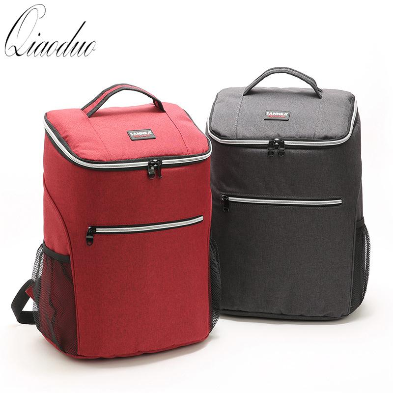 20L oxford big cooler bag thermo lunch picnic box insulated cool backpack ice pack fresh carrier thermal shoulder bags CE3017 SH190923