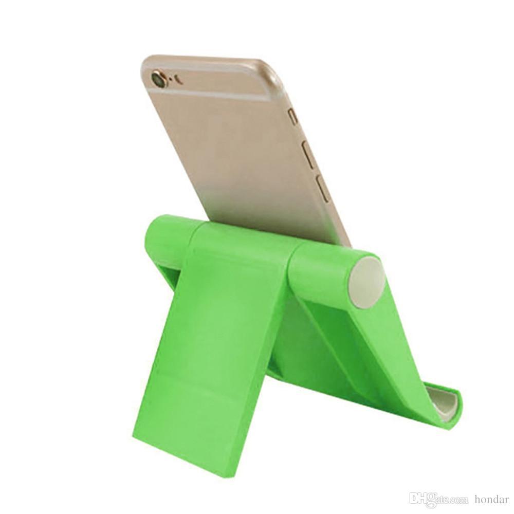 2019 mais recente rotativa dobrável titular carrinho de exibição móvel de plástico suporte de mesa de cama suporte de telefone móvel suporte do telefone do berço