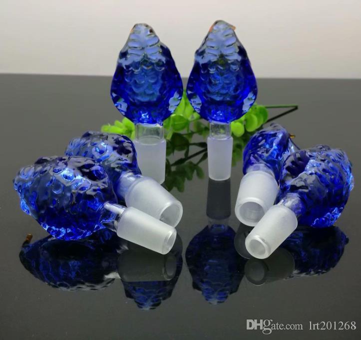 Nova Azul Cobra Bolha Cabeça de vidro Bongos de vidro cachimbo de água Rig Pipes Oil Gravar vidro Bowls Oil
