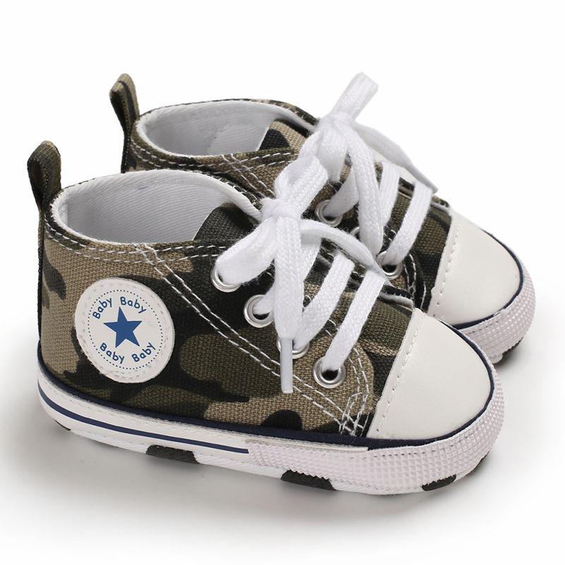 Baby Boy Girl Prewalker Newborn First Walker Moccasins Soft Canvas Shoes Infant