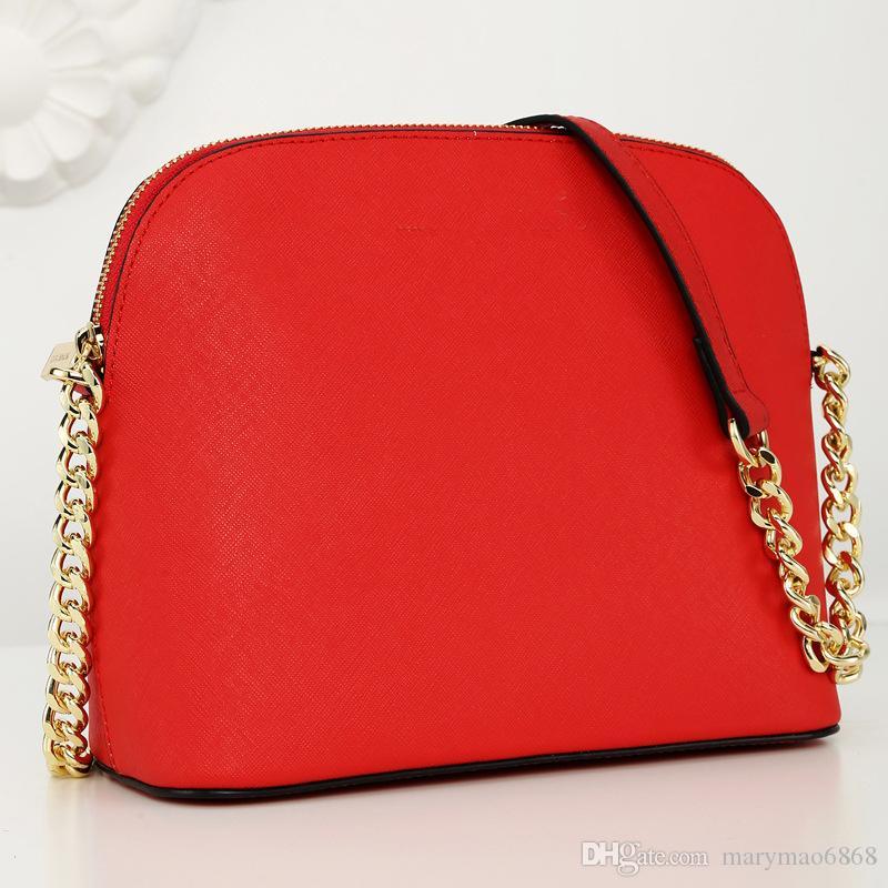 ¡Envío gratis! Bolso de cuero Bolsos de hombro de cuero de alta calidad Mujeres clásicas Diseñador famoso Bolsos bolso de cadena monedero 7 colores Bolso de mensajero